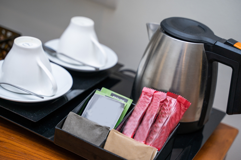 tea and coffee setup